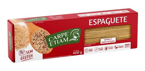 Espaguete Zero Glúten Quinoa E Arroz Int. 400g Carpe Etiam