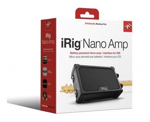 Micro Amplificador Com Interface Irig Nano Amp Ik Multimedia
