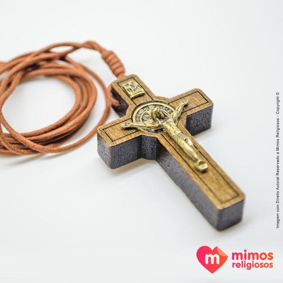 Crucifixo Com A Medalha De São Bento - Mimos Religiosos