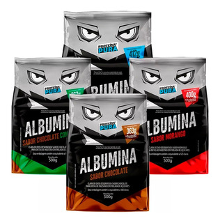 Kit 4x Albumina Pura 500g - Proteína Pura - Todos Os Sabores