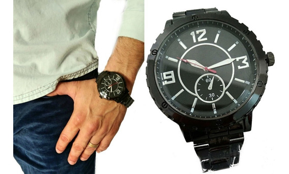 Relógio Última Moda De Marca Grife Famosa Estiloso Preto