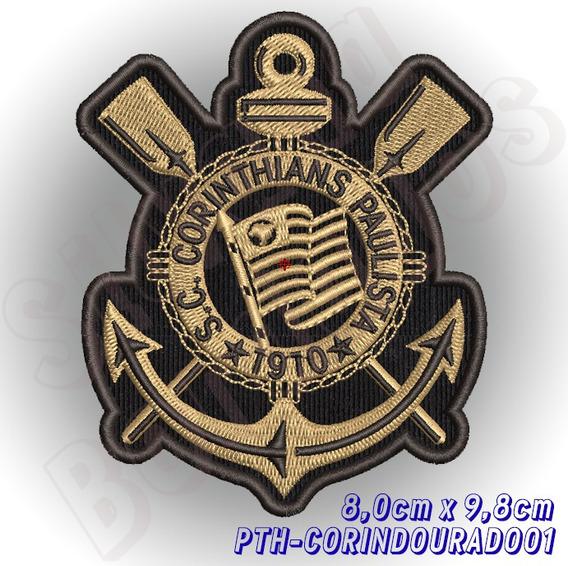 Patch Bordado Termocolante Time Futebol S. C. Corinthians Sp