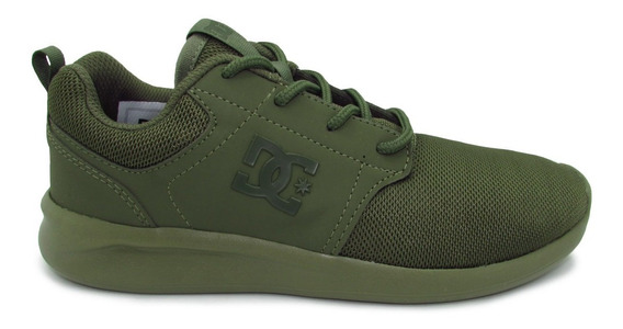 Tenis Dc Shoes Midway Sn Mx Adys700136 Olv Olive Olivo Verde