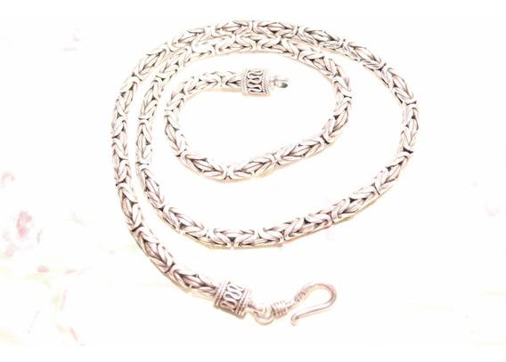 Cordão De Prata 925 De Bali Ponto Peruano