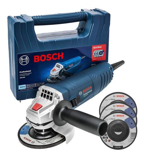Esmerilhadeira Angular Gws850 Bosch 110v 4.1/2 + 3 Discos