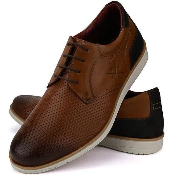 Sapato Sapatênis Masculino Casual Em Couro Lançamento Oferta