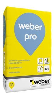 Adhesivo - Pegamento Weber Col Pro X 30 Kg Para Porcelanatos