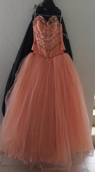 Vestido Xvs (quince Años) Vogue Salmon Alta Costura Nuevo