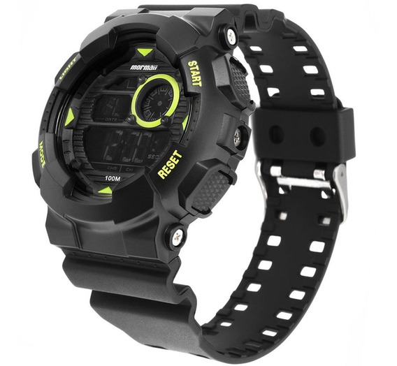 Relógio Mormaii Masculino Black Mo3415c/8v Grande G Shock