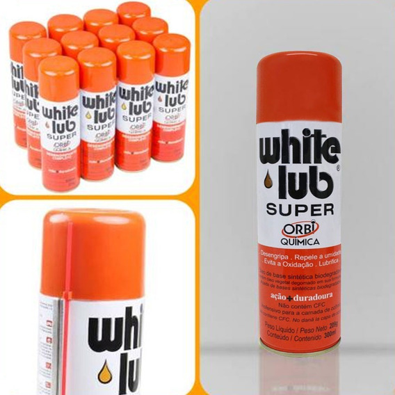 18 Un. Desengripante Lubrificante Spray 300ml White Lub
