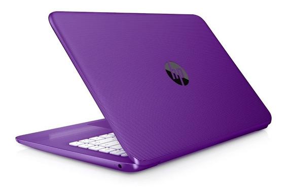 Notebook Hp 14-cb013wm Cel-n3060/4gb/32ssd/14p/w10 Roxo