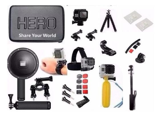 Kit Gopro Hero 5 Hero 6 Dome 6 Polegadas Case Estanque Tripe