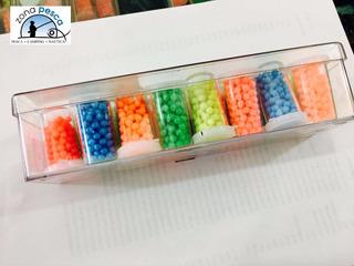 Perlas Plasticas Montague - Tubitos N°3. Precio Por Tubo.