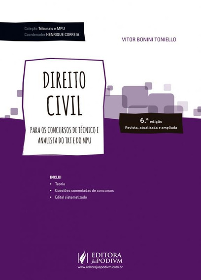 Direito Civil - Para Tecnico E Analista - Juspodivm