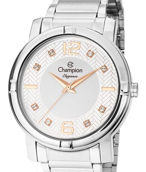 Relógio Champion Feminino Cn25252q Original Prateado + Nota