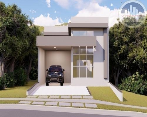 Casa Condominio Brescia Em Indaiatuba Com 3 Dormitórios - Ca00025 - 67633087
