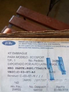Kit De Embrague Ford Ecosport Titanium 4x4 2.0 Original