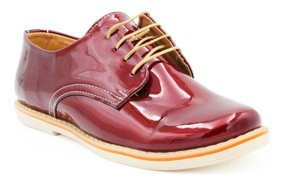 Zapatos Mujer Charol Moda Casual Bonitos Dama Colores (04)