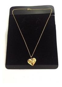 Colar Feminino Coração Com Simbolo Infinito Dourado E Strass
