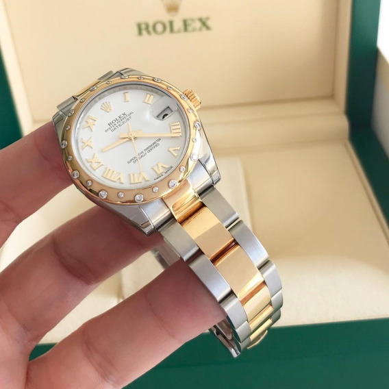 Rolex Datejust 24 Diamonds Ouro & Aço 31mm 2019
