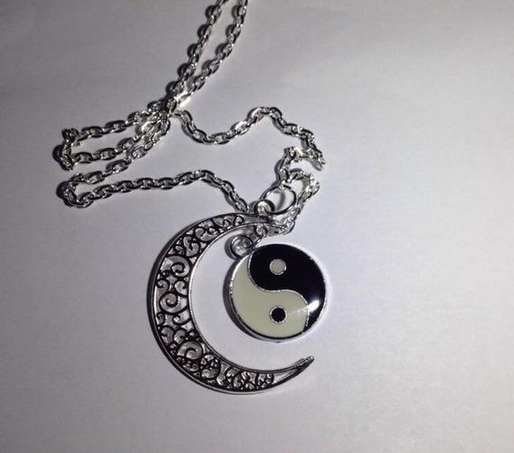 Collar Yin Y Yang Con Luna Envió Gratis
