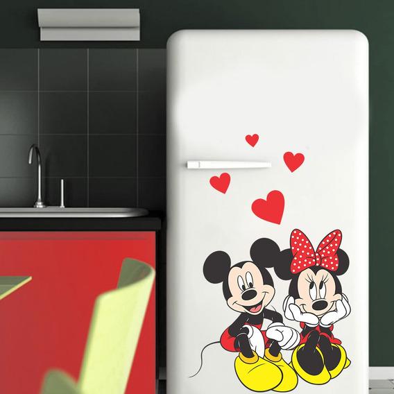 Adesivo Decorativo Geladeira - Mickey E Minnie P