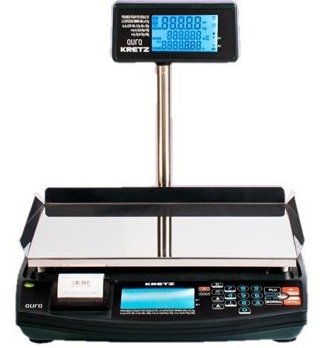Balanza Kretz Aura 30 Kg Con Impresor Ticket Bateria