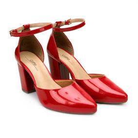 6365f09809 Scarpins Vermelho - Scarpins para Feminino no Mercado Livre Brasil