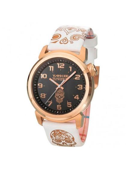 Relógio Yankee Street Feminino - Ys30452u - Cor Branco/rose