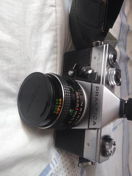 Câmera Analógica Alemã Praktica Mtl3 + Flash
