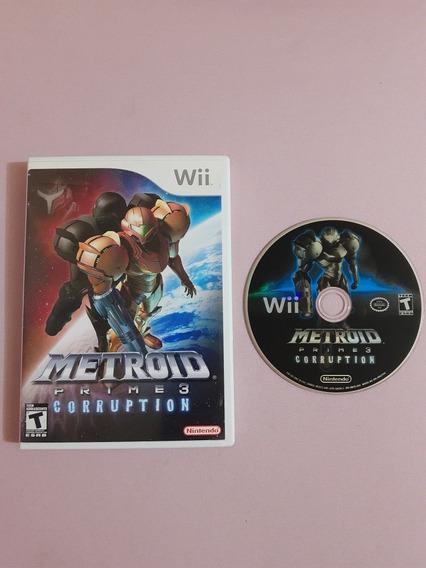 Metroid Prime 3 Corruption Wii Original Americano Na Caixa