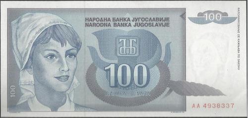 Imagen 1 de 2 de Yugoeslavia 100 Dinares 1992 P112