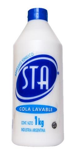 Sta Adhesivo Pegamento Cola Vinilica Blanco 1000cc