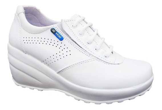 Zapatos Blancos De Enfermera M.1312 Suela De Base