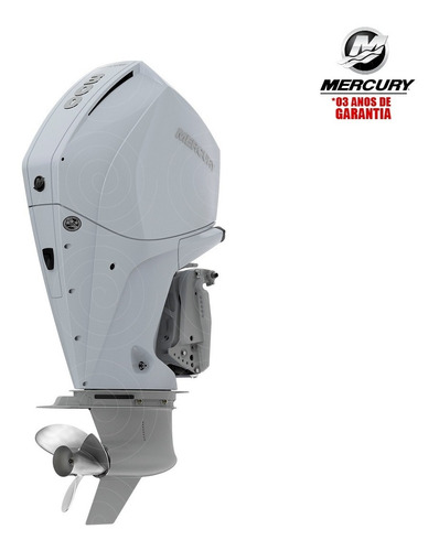 Motor De Popa Mercury 4t 300hp Xl V8 Dts Pess Física Branco