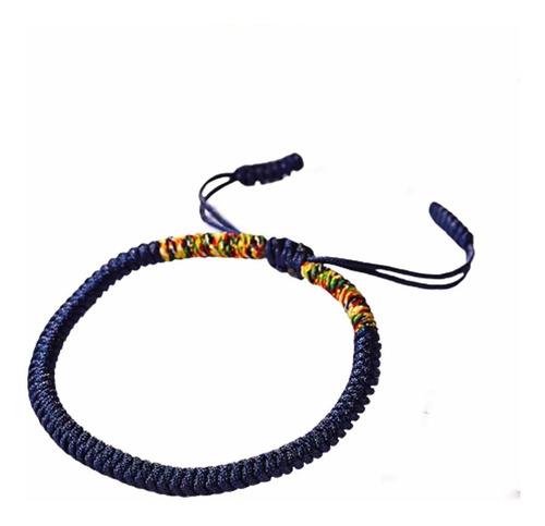 Nueva Pulsera Tibetana De La Suerte - Azul - Chakra Ajna