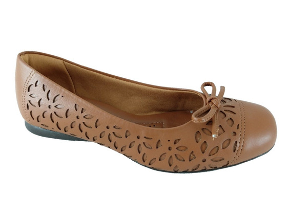 022823linh - Sapatilha Feminina Sapatoweb Confort Marrom
