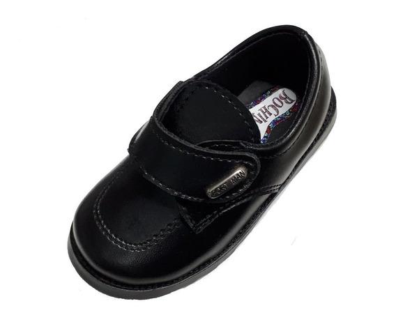 10 * Zapatos Ecocuero C/ Abrojos Bebes Nenes Varon Bautismo