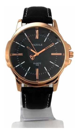 Relógio Yazole Original Masculino Feminino Social Couro