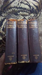Obras Completas Henri Beyle Stendhal Aguilar En Piel 3 Tomos