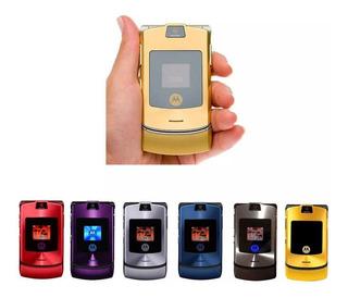Celular Motorola V3i Dourado