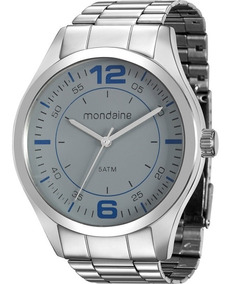 Relógio Mondaine Masculino Prata Casual Nota 78742g0mvna2