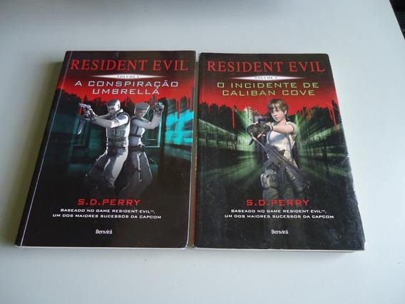 Livro Resident Evil - Lote C/ Volumes 1 E 2