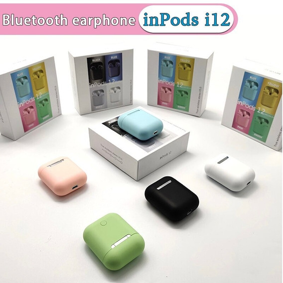 Audífonos Inalámbricos Inpods 12 Bluetooth (15 Verds)