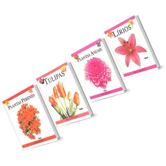 Guia Prático Ilustrado Plantas Lírios Tulipas 4 Volumes