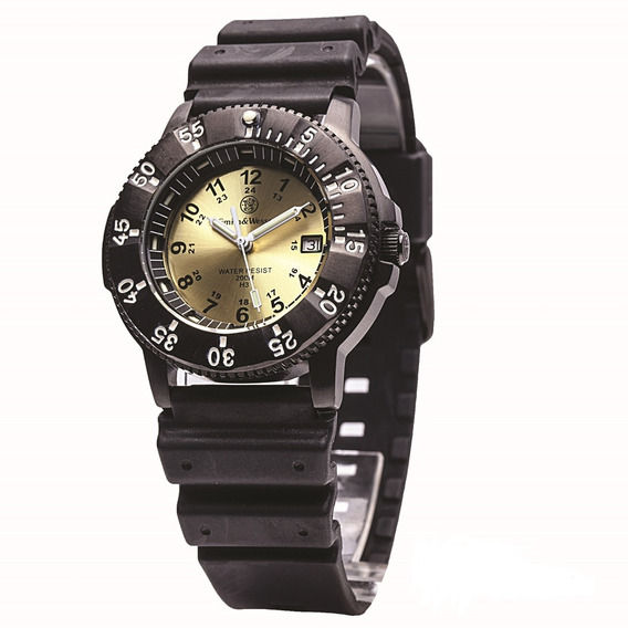 Smith & Wesson Diver Watch W/yellow Dial - Swiss Tritium