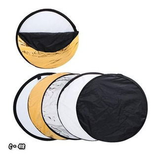 Flex Reflector Luz Flash 5 En 1 80cm Video Fotografia