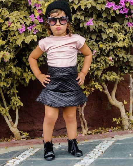 Muscle Tee Infantil Blogueirinha Mini Diva Mini Influencer