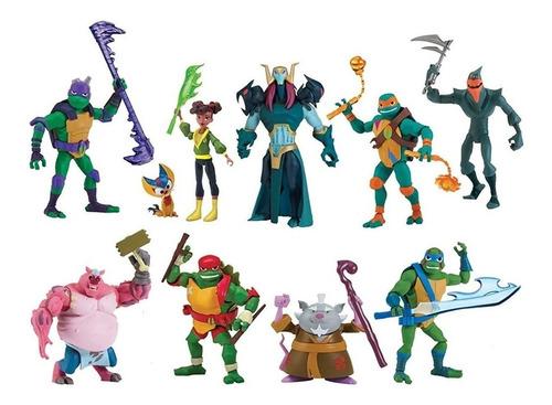 Muñeco Tortugas Ninja Articulados Con Accesorios Original