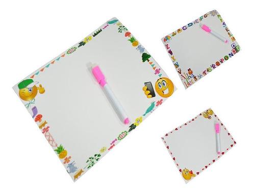 10 Lousa Quadro Adesivo Desenhos Infantil P/ Criança Atacado